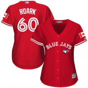 Wholesale Cheap Blue Jays #60 Tanner Roark Red Canada Day Women's Stitched MLB Jersey