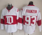 Wholesale Cheap Red Wings #93 Johan Franzen White Winter Classic CCM Throwback Stitched NHL Jersey