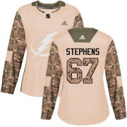 Cheap Adidas Lightning #67 Mitchell Stephens Camo Authentic 2017 Veterans Day Women's Stitched NHL Jersey