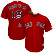 Wholesale Cheap Boston Red Sox #19 Jackie Bradley Jr. Majestic 2018 World Series Cool Base Player Jersey Scarlet