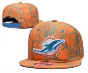 Wholesale Cheap Dolphins Team Logo Orange Adjustable Hat TX