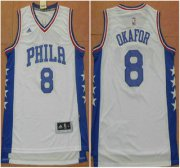 Wholesale Cheap Philadelphia Sixers #8 Jahlil Okafor Revolution 30 Swingman 2015 New White Jersey