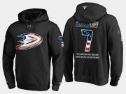 Wholesale Cheap Ducks #7 Andrew Cogliano NHL Banner Wave Usa Flag Black Hoodie
