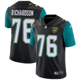 Wholesale Cheap Nike Jaguars #76 Will Richardson Black Team Color Men\'s Stitched NFL Vapor Untouchable Limited Jersey