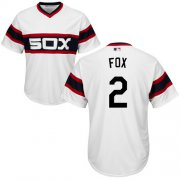 Wholesale Cheap White Sox #2 Nellie Fox White Alternate Home Cool Base Stitched Youth MLB Jersey