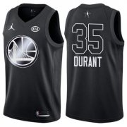 Wholesale Cheap Warriors 35 Kevin Durant Jordan Brand Black 2018 All-Star Game Swingman Jersey