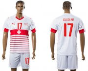 Wholesale Cheap Switzerland #17 Kasami Away Soccer Country Jersey