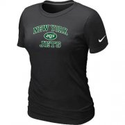 Wholesale Cheap Women's Nike New York Jets Heart & Soul NFL T-Shirt Black