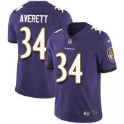 Wholesale Cheap Nike Ravens #34 Anthony Averett Purple Team Color Men's Stitched NFL Vapor Untouchable Limited Jersey