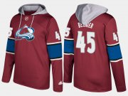 Wholesale Cheap Avalanche #45 Jonathan Bernier Burgundy Name And Number Hoodie