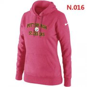 Wholesale Cheap Women's Nike Pittsburgh Steelers Heart & Soul Pullover Hoodie Pink