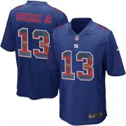 Wholesale Cheap Nike Giants #13 Odell Beckham Jr Royal Blue Team Color Men's Stitched NFL Limited Strobe Jersey