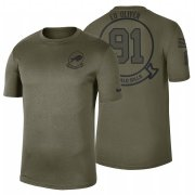 Wholesale Cheap Buffalo Bills #91 Ed Oliver Olive 2019 Salute To Service Sideline NFL T-Shirt