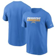Wholesale Cheap Los Angeles Chargers Nike Split T-Shirt Powder Blue