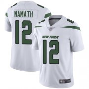 Wholesale Cheap Nike Jets #12 Joe Namath White Youth Stitched NFL Vapor Untouchable Limited Jersey