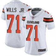 Wholesale Cheap Nike Browns #71 Jedrick Wills JR White Women's Stitched NFL Vapor Untouchable Limited Jersey
