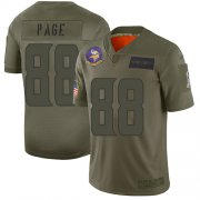 Wholesale Cheap Nike Vikings #88 Alan Page Camo Men's Stitched NFL Limited 2019 Salute To Service Jersey