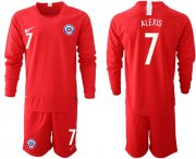 Wholesale Cheap Chile #7 Alexis Home Long Sleeves Soccer Country Jersey