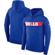 Wholesale Cheap Men's Buffalo Bills Nike Royal Sideline Team Performance Pullover Hoodie
