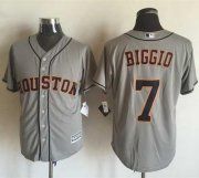 Wholesale Cheap Astros #7 Craig Biggio Grey New Cool Base Stitched MLB Jersey