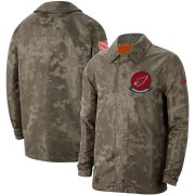 Wholesale Cheap Men's Arizona Cardinals Nike Camo 2019 Salute to Service Sideline Full-Zip Lightweight Jacket