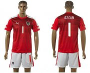 Wholesale Cheap Austria #1 Ozcan Red Home Soccer Country Jersey