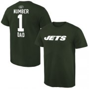 Wholesale Cheap Men's New York Jets Pro Line College Number 1 Dad T-Shirt Green