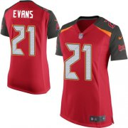 Wholesale Cheap Nike Buccaneers #21 Justin Evans Red Team Color Women's Stitched NFL New Elite Jersey