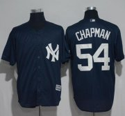 Wholesale Cheap Yankees #54 Aroldis Chapman Navy Blue New Cool Base Stitched MLB Jersey