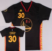 Wholesale Cheap Golden State Warriors #30 Stephen Curry Revolution 30 Swingman 2015 Chinese Black Fashion Jersey