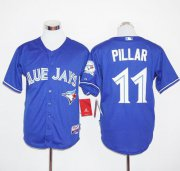 Wholesale Cheap Blue Jays #11 Kevin Pillar Blue Cool Base Stitched MLB Jersey