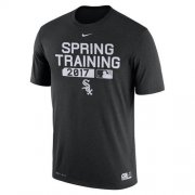 Wholesale Cheap Men's Chicago White Sox Nike Black Authentic Collection Legend Team Issue Performance T-Shirt