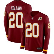 Wholesale Cheap Nike Redskins #20 Landon Collins Burgundy Red Team Color Men's Stitched NFL Limited Therma Long Sleeve Jersey