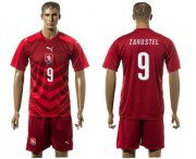 Wholesale Cheap Czech #9 Zahustel Red Home Soccer Country Jersey