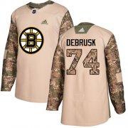 Wholesale Cheap Adidas Bruins #74 Jake DeBrusk Camo Authentic 2017 Veterans Day Stitched NHL Jersey
