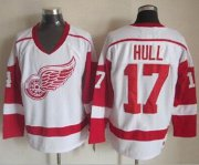 Wholesale Cheap Red Wings #17 Brett Hull White CCM Throwback Stitched NHL Jersey
