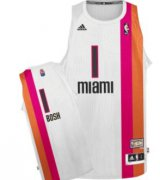 Wholesale Cheap Miami Floridians #1 Chris Bosh ABA Hardwood Classic Swingman White Jersey