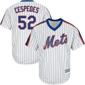 Wholesale Cheap Mets #52 Yoenis Cespedes White(Blue Strip) Alternate Cool Base Stitched Youth MLB Jersey