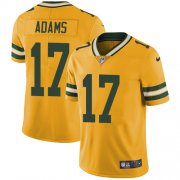 Wholesale Cheap Nike Packers #17 Davante Adams Yellow Men's Stitched NFL Limited Rush Jersey