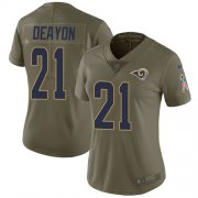 Wholesale Cheap Nike Rams #21 Donte Deayon Olive Women's Stitched NFL Limited 2017 Salute To Service Jersey