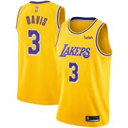 Cheap Lakers #3 Anthony Davis Gold Youth Basketball Swingman Icon Edition Jersey