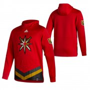 Wholesale Cheap Vegas Golden Knights Blank Adidas Reverse Retro Pullover Hoodie Red