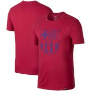 Wholesale Cheap Barcelona Nike Team Crest Performance T-Shirt Red