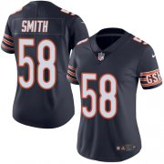 Wholesale Cheap Nike Bears #58 Roquan Smith Navy Blue Team Color Women's Stitched NFL Vapor Untouchable Limited Jersey