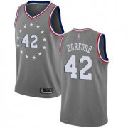 Wholesale Cheap 76ers #42 Al Horford Gray Basketball Swingman City Edition 2018-19 Jersey