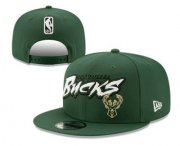 Wholesale Cheap Milwaukee Bucks Snapback Ajustable Cap Hat YD 4