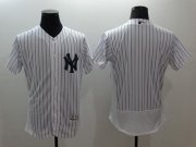 Wholesale Cheap Yankees Blank White Strip Flexbase Authentic Collection Stitched MLB Jersey