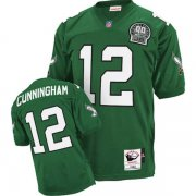 Wholesale Cheap Mitchell&Ness Eagles #12 Randall Cunningham Green Stitched Throwback NFL Jersey