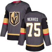 Wholesale Cheap Adidas Golden Knights #75 Ryan Reaves Grey Home Authentic Stitched Youth NHL Jersey