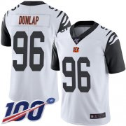 Wholesale Cheap Nike Bengals #96 Carlos Dunlap White Men's Stitched NFL Limited Rush 100th Season Jersey